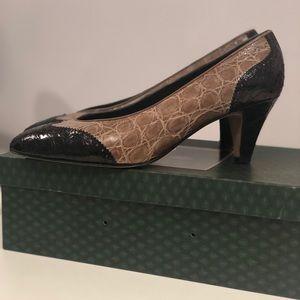 Vintage Gucci Crocodile Heel
